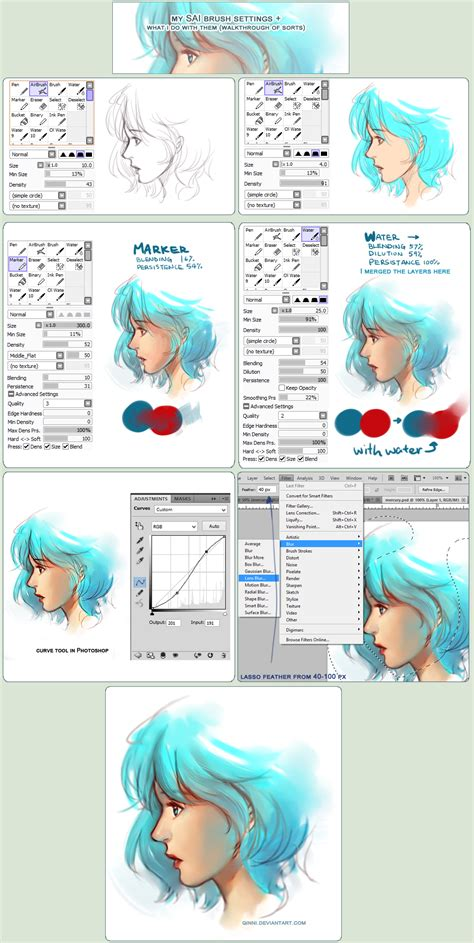 sai brush setting how they re used walkthrough by qinni on deviantart