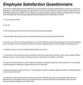 employee satisfaction survey questions template employee satisfaction survey 9 free documents