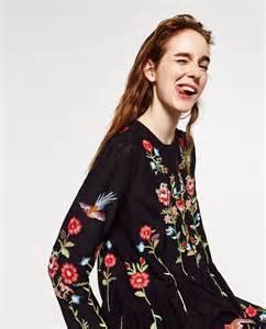 Embroidered floral dress endource