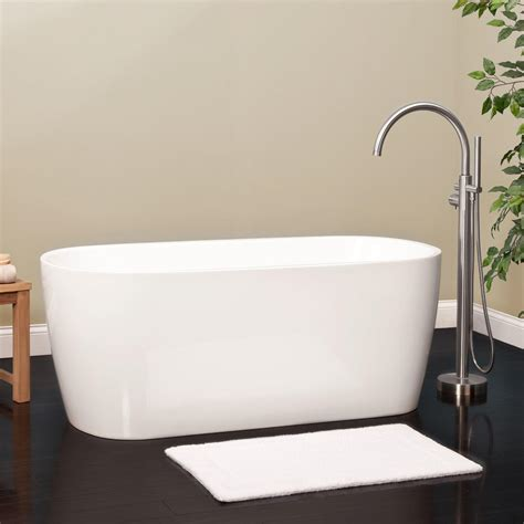 bathrooms with freestanding tubs avie acrylic freestanding tub bathroom