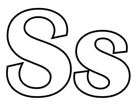 Free Coloring Pages Of I Letter S S Colouring Pages