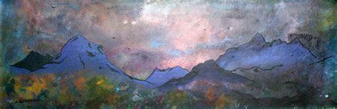 spray painting scotland glen sligachan mist isle of hebrides scotland