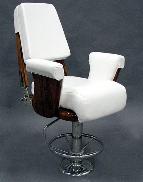 nautical design helm chair helm chair with stainless steel round foot rest