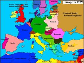 Europe Map 1939 by Political Map Of Europe 1939