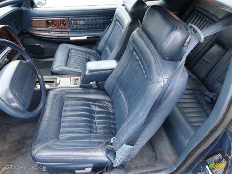 blue interior 1990 buick riviera standard riviera model