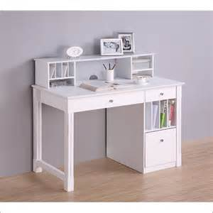 30 deluxe solid wood desk w hutch white dw48d30
