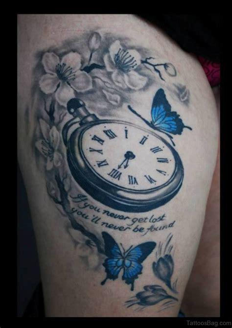tattoo clock 50 top class clock tattoos on thigh