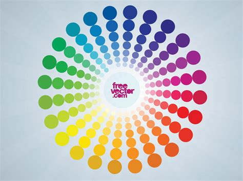 colorful colors vector color wheel vector art graphics freevector com