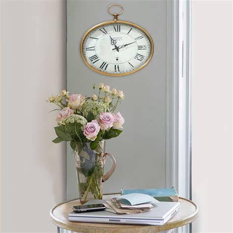 stratton home decor stratton home decor gold oval wall clock gold s02199 at