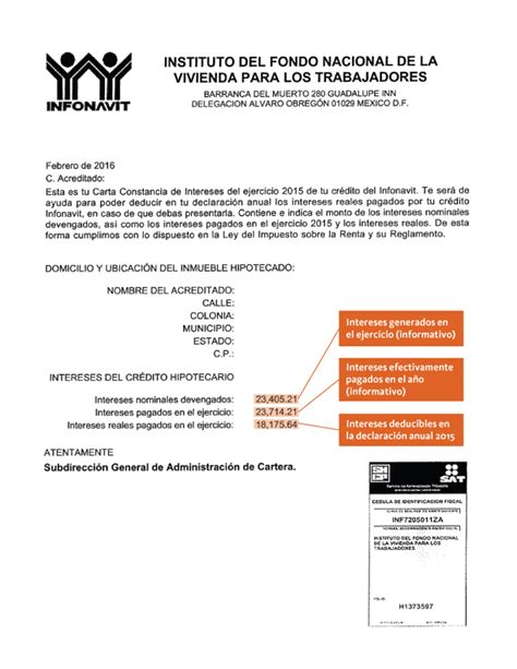 Constancia De Impuestos De Infonavit 2015 | constancias de intereses infonavit 2015 constancia de