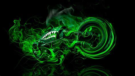 green wallpaper in 4k moto gun super fire flame abstract bike 2016 wallpapers 4k