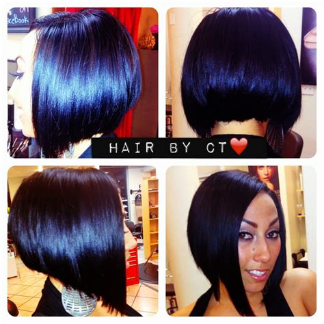 cut side hair into swimg full head extensions with natural part to the side and cut
