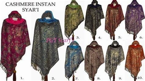 Jilbab Motif Persegi 3 so trendy instant syar i grosir ecer borong pashmina shawl scarf pashmina