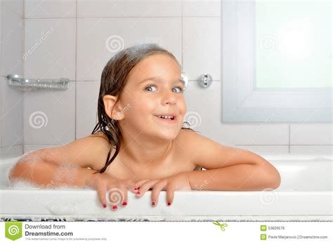 girl in a bathtub girl in a bathtub stock photo image 53829576