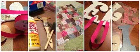 How To Decoupage Wooden Letters - four front doors decoupage letters as easy as a b c