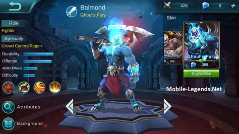 new skin for balmond ghoul s fury mobile legends