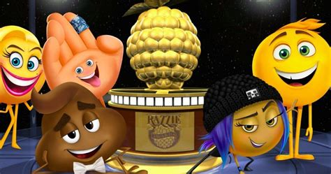 film trophy emoji emoji movie tops 2018 razzie awards winners list movieweb