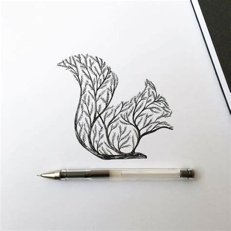pen amp ink animal illustrations by italian artist alfred