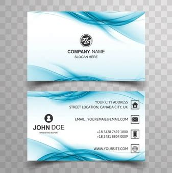 business card template wavy business cards vectors photos and psd files free