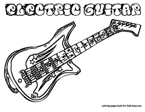 printable coloring pages guitar guitar printable coloring pages