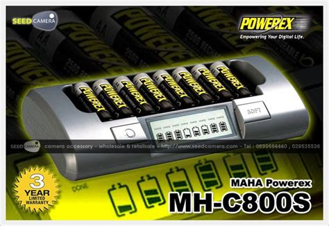 Charger Powerex Mh C800s Eight Cell Smart Charger เคร องชาร จ aa aaa 9v battery charger seedcamera