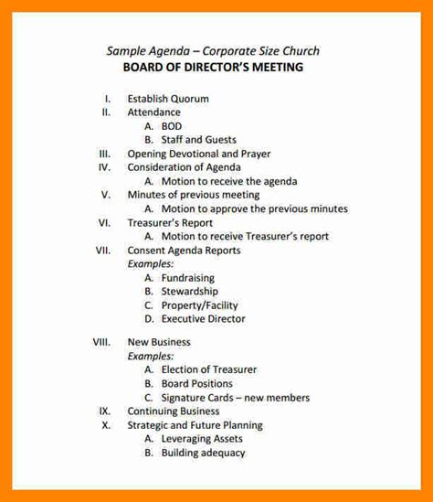seminar themes exles board meeting agenda sles sle board meeting agenda