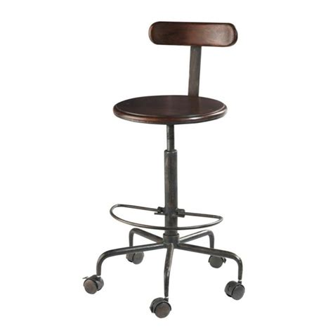 Posture Chairs Solid Sheesham Wood And Metal Industrial High Desk Chair