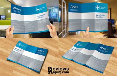 How To Tri Fold Paper - eye catching blank tri fold paper brochure mockup