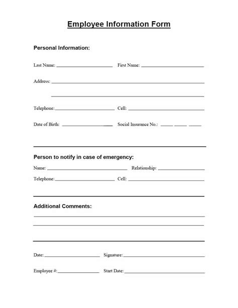 Update Contact Information Form Template by Update Contact Information Form Template Choice Image
