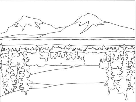 Coloring Pages Of Mountains mountain pictures mountains coloring page