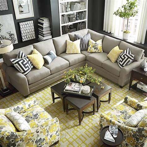 hgtv home design studio at bassett hgtv home design studio cu 2 l shaped sectional by bassett