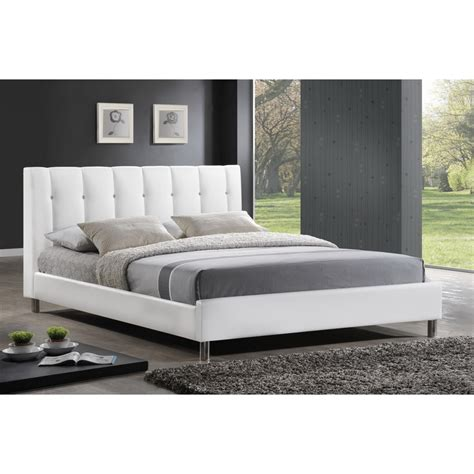 white headboard queen size bed vino white modern bed with upholstered headboard queen