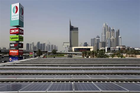 emirates gas uae s first solar powered gas station opens in dubai the