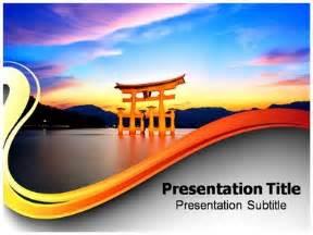 japan powerpoint template torii gate ppt powerpoint templates powerpoint