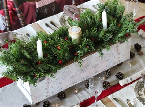 christmas table centerpieces to make table centrepiece one item challenge fynes designs fynes designs