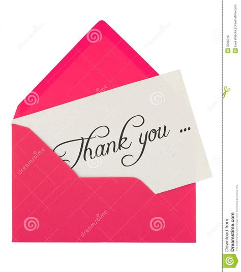 Thank You Letter Envelope Envelope And Thank You Note Stock Photo Image 3966216