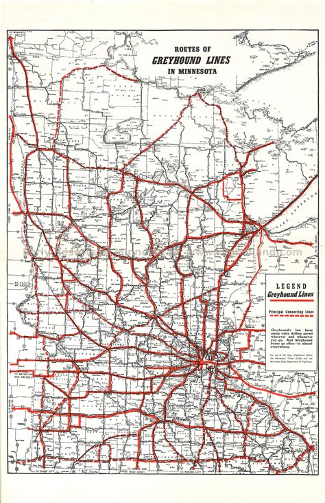 lines map greyhound route map images