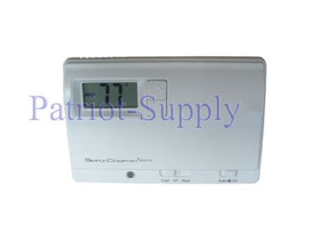simple comfort thermostat icm sc2010 simple comfort non programmable thermostat