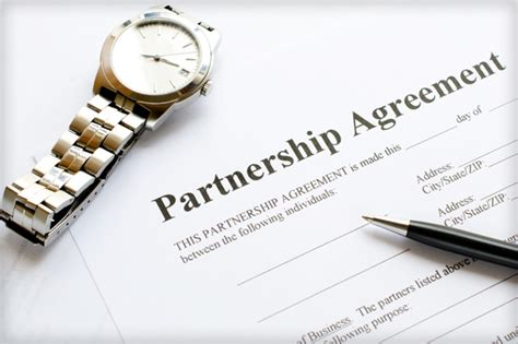 download partnership agreement template for free