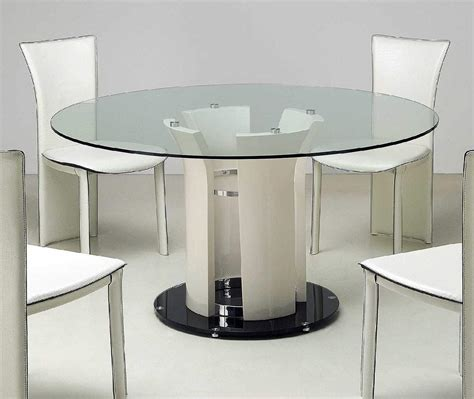 Modern Glass Kitchen Table Applying Modern Kitchen Tables Home Furniture And Decor