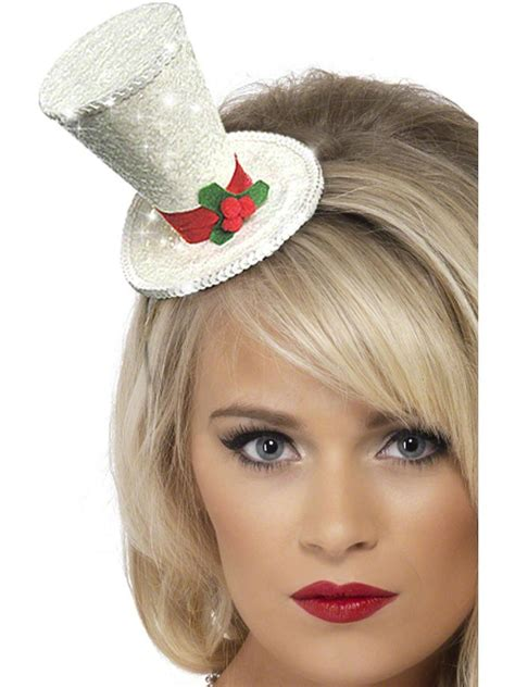 white christmas top hat 22046 fancy dress ball