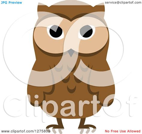 Standing Notes Owl clipart of a standing brown owl royalty free vector illustration by seamartini graphics 1275809