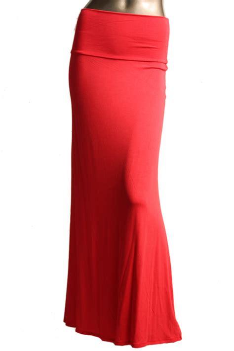 s floor length solid color salmon maxi skirt