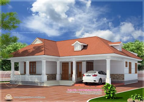 one floor house single floor kerala home