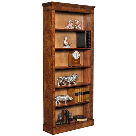Open Bookcase Burr Elm Open Bookcase Bookcases Cabinets