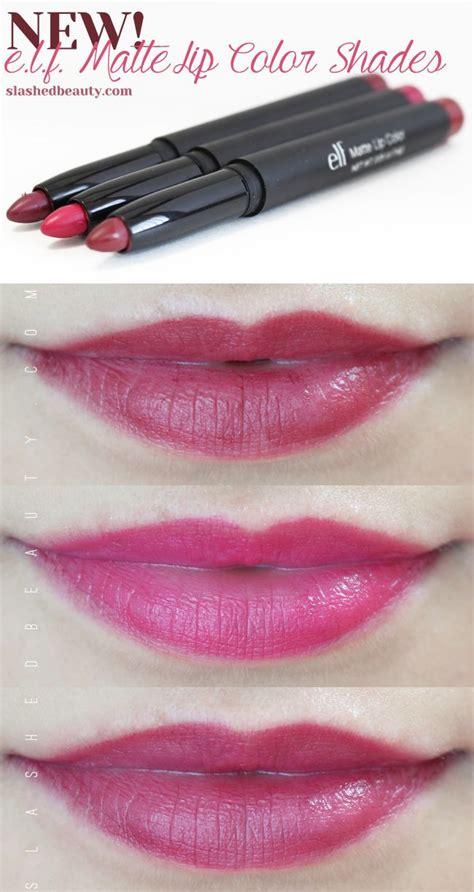 elf swatch studio matte lip color coral review swatches e l f studio matte lip colors