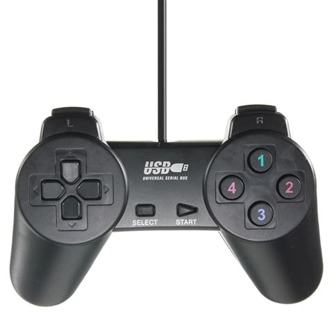 Usb Gamepad new arrival wired usb 2 0 black gamepad joystick joypad gamepad controller for pc laptop