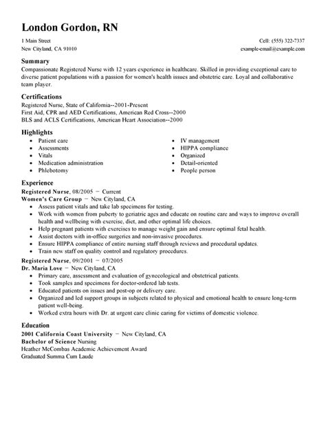 Resume Exles For Home Health Nurses Resume Sles The Ultimate Guide Livecareer