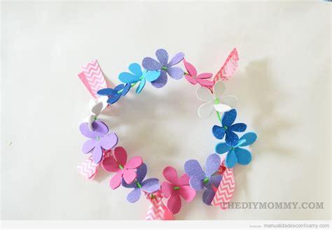 flores goma eva manualidades con foamy manualidades de manualidad para verano corona de flores de goma eva