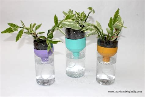 Water Bottle Planter by Recycled Self Watering Water Bottle Garden Craft